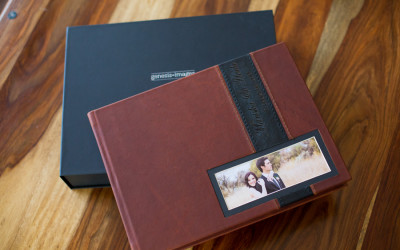 25x 34cm Leather Cover album with box