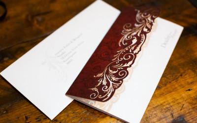 Beautiful laser cut wedding invitation