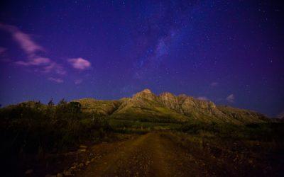 Paradyskloof, Stellenbosch at night
